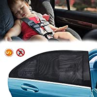 """Seilent Car sunshade,AN Car Rear Side Window Portable Accessories-Car Window Shades for Baby Block UV Rays, Protect Your Babies, Kids and Pet from UV, Easy and Flexible to Use– 45"""" x 21"""" [2 Pack]"""