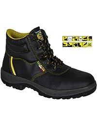 bicap zapato de trabajo (L 2409/2B S3Src) de piel con puntera y suela de acero en ISO 20345: 2011