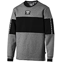 Puma Rebel Block Crew FL, Sweatshirt Uomo, Medium Gray Heather, M