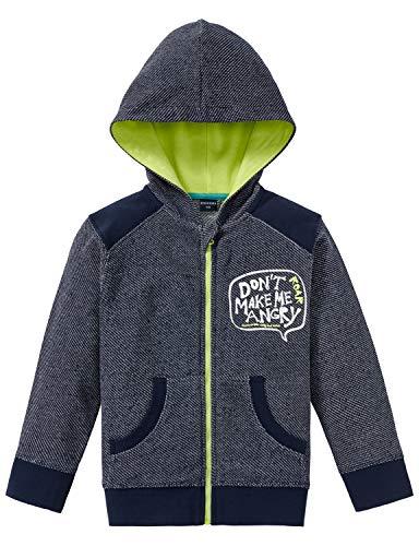 Schiesser Jungen Rebell Boy Sweatjacke T-Shirt, Blau (Navy 815), (Herstellergröße: 104)