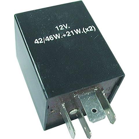 Cuadrado Teckniks FL1 12 V 4 pin intermitente fusible