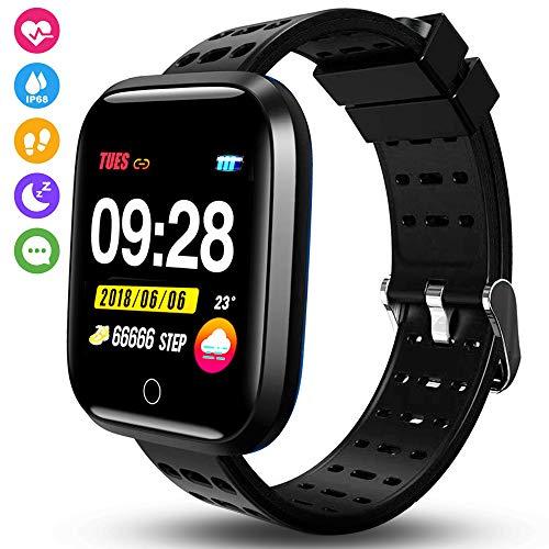 kissral Smartwatch, Orologio Intelligente Braccialetto Fitness Activity  Tracker Sportivo Cardiofrequenzimetro da Polso Contapassi Calorie  Cronometro