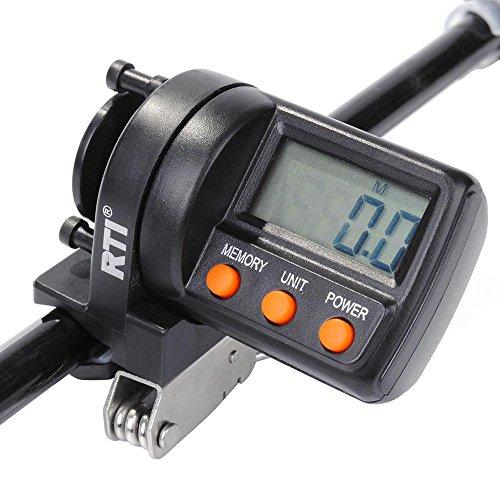 Sea Fishing Schnurzähler Tiefenmesser Digital Schleppen 999 FT Spinning Guss 2-Wege verstellbar Yardage