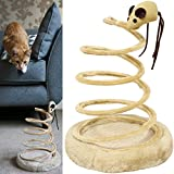 Me & My Pets Cat Spiral Mouse Spring Toy