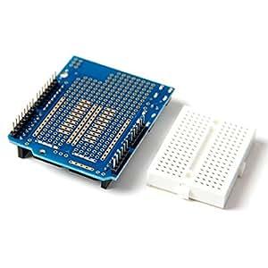 Services de prototypage pour arduino v5 prototype v.5 plaque d'assise avec mini breadboard kit