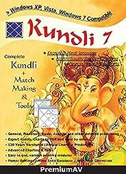 Kundli 7 English and Hindi Language Complete Kundli Software + Match Making & Tools By Premi