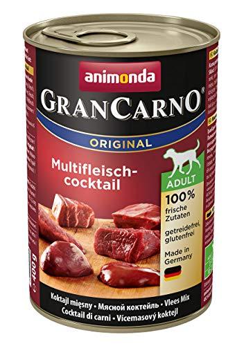 animonda GranCarno Hundefutter, Nassfutter für erwachsene Hunde, verschiedene Sorten, Multifleisch-Cockail, 6 x 400 g