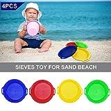 Set da 4 pezzi/Set Stop Setaccio sabbia Setacci giocattolo per Sand Beach giocare a giochi con sabbia set di giocattoli di sabbia