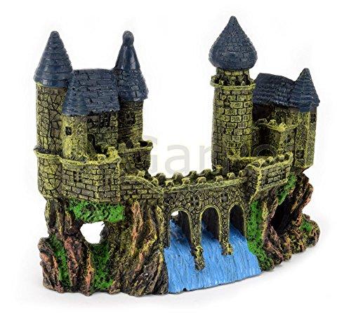 Aquarium Deko Burg mit Brücke Schloss Festung Ritterburg Castel Dekoration
