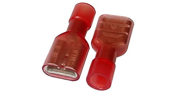 m/ännlich flach 6.3mm 0.8mm 0.75-2mm2 Aerzetix: 100 x Kabelschuhe Kabelschuh Klemme