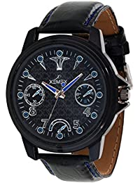 Xemex Black Round Dial Analog Watch For Men