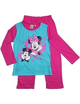 Minnie Mouse und Mickey Mouse Kollektion 2016 Pyjama 92 98 104 110 116 122 128 Mädchen Schlafanzug Neu Nachtwäsche...