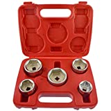 Oil Filter Socket Remover / Removal Tool / Cup Type 24mm - 38mm 5pc Set AN136