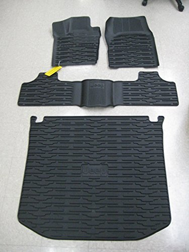 Front Cargo (2013-2015 Jeep Grand Cherokee Front/Rear Slush Mats and Cargo Liner Combo by Mopar)