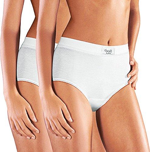 Sloggi Taillenslip double Comfort Maxi 2er-Pack weiß Größe 44