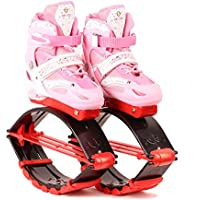 Bounce Shoe Jumping Adultos Niños Anti-Gravity Running Boots,Pink,S