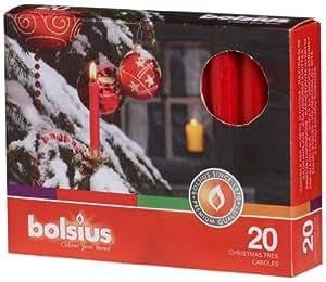Bolsius Christmas Nova Candles - Box of 20 (Red) - 103609023541