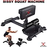 MAXSTRENTH Sissy Squat Bench Leg Machine - Extension - Heavy Duty Fitness Gym
