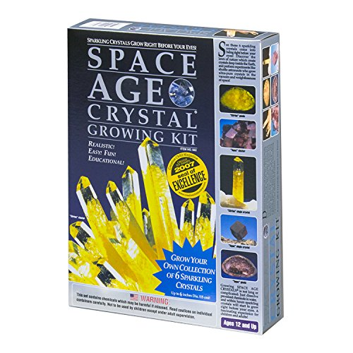 owing Kit: 6 Crystals (Citrine and Topaz) by Kristal Educational (Space Age Crystal Growing Kit)