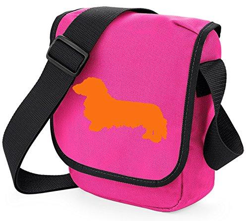 Bag Pixie - Borsa a tracolla unisex adulti Orange Dog Pink Bag
