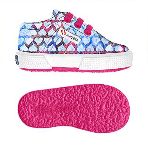 Chaussures Le Superga - 2750-fantasy Cotb - Enfants HEARTS FUCHSIA-AZURE