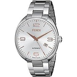 Fendi F201016000 - Reloj de pulsera hombre, acero inoxidable, color Plata