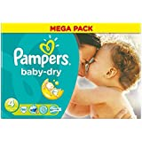 Pampers Baby Dry Taille 4 Maxi 7-18kg (86) - Paquet de 2