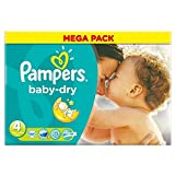 Pampers Baby Dry Taille 4 Maxi 7-18kg (86) - Paquet de 6