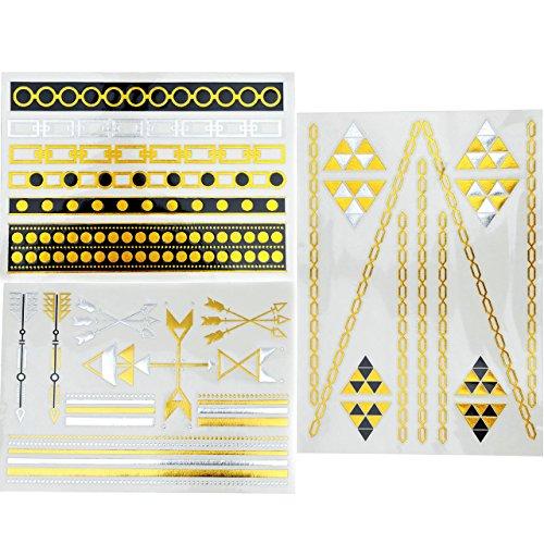 piercingj-3-planches-de-tatouages-ephemeres-tattoos-etanche-metalliques-brillants-adhesif-motifs-var