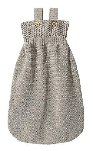 Preisvergleich Produktbild Disana 22010XX - Strick-Schlafsack Wolle grau (65 cm)