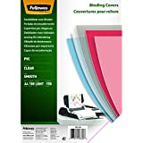 Fellowes Cristal - Portadas para encuadernar de PVC transparente, A4, transparente