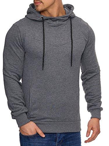 TAZZIO Herren Kapuzen Sweatshirt Pullover Hoodie 17200 Anthrazit