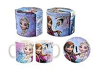 set regalo composto da tazza e salvadanaio con l'immagine dei personaggi di Frozen