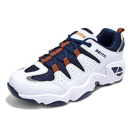 Hommes chaussures casual chaussures de confort respirant espadrilles de maille blue orange