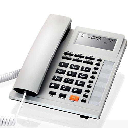 Schnurgebundenes örtlich festgelegtes Telefon mit Freisprechtelefon-Anrufer-Identifikation / Anruf-Speicherung kein Batterie-großes Schirm-großes Knopf-Quadrat für Wohnzimmer-Schlafzimmer-Flur-Treppenhaus-Badezimmer-Studie ( Farbe : Weiß - Kunden-id-nummer