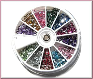 1800pc 2mm Round Budget Nail Art Rhinestone/Gem Wheel