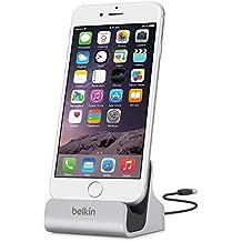 Belkin Mixit - Base dock de carga para iPhone 8/8+ y iPhone X (aluminio, cable USB de 1,2 m integrado) plateado