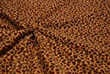 CRS Fur Fabrics Calidad Impreso Anti PIL Polar Tela de Forro Polar Material-Arena Leopardo