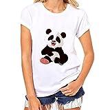 Luckycat Best 2018 Sweatshirt Damen Frauen Elegant Tierdruck Kurzarm Bluse Beiläufig Rundhals T-Shirt Bunt Funny Shirt Sommer Hemdblusen