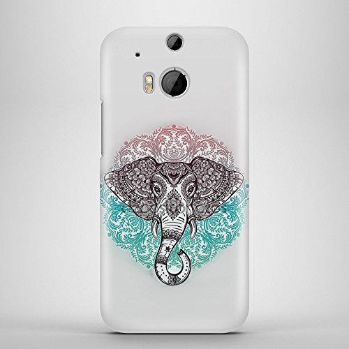 Hindu Elefant Aztekisch Telefon Fall Abdeckung Buntes Muster für HTC One M8 (Htc M8 Bunte Fall)