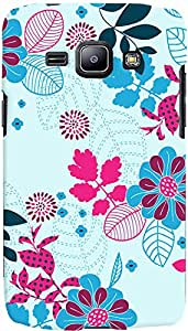PrintVisa Pattern Abstract Floral Case Cover for Samsung Galaxy J1