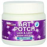 Kreul 49561 - Art Potch Lack und Leim, Glitter Silber, 150 ml