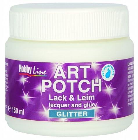 Kreul 49561 - Art Potch Lack und Leim, Glitter Silber 150 ml
