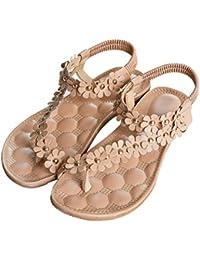 Venta Caliente! Mujeres Chanclas De Madera, ❤️ Ba Zha HEI Verano Plataforma Zapatos de Moda Caucho Sandalias de Zapatillas Sandalias de Cuentas de Bohemia Bordado Flores Sandal Mujer