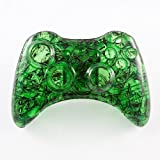 Clear Green Zombie Custom Controller Shell For Xbox 360
