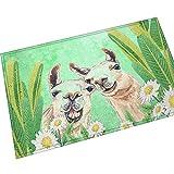 Gnzoe Flanell Teppich Karikatur Katze Drucken Muster Design Teppiche für Flur Schlafzimmer Bunt 70x45CM