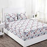 Maspar Superfine 210 TC Cotton Double Bedsheet with 2 Pillow Covers - Geometric, Multi Bright