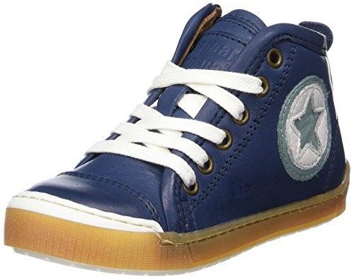 Bisgaard Unisex-Kinder Schnürschuhe Hohe Sneaker, Blau (Navy), 32 EU