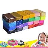 Katomi 24 Farben Pack-Ofen backen Polymer Clay Modelling Art Spielzeug-Fertigkeit-Geschenk für Kind-Kind von Katomi
