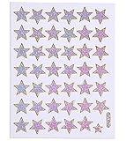 b2see Stern Aufklebe-r-Deko-Sticker Glitzer Sterne silber selbst-klebend-e Stern Sticker zum aufkleben Stk 14 x 9 cm